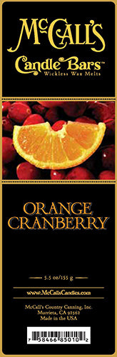 ORANGE CRANBERRY Candle Bars-5.5 oz Pack