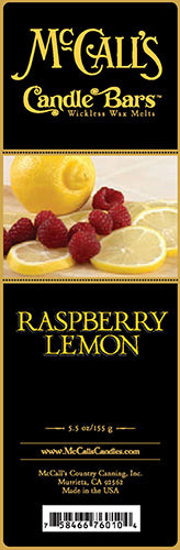 RASPBERRY LEMON Candle Bars-5.5 oz Pack