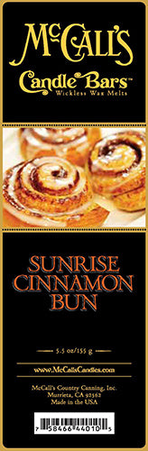 SUNRISE CINNAMON BUN Candle Bars-5.5 oz Pack