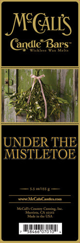 UNDER THE MISTLETOE Candle Bars-5.5 oz Pack