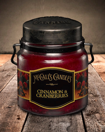 CINNAMON and CRANBERRIES Double Wick Classic 16oz