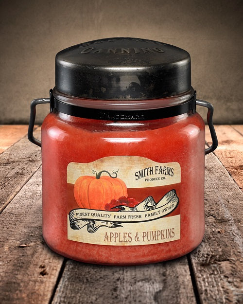 APPLES and PUMPKINS Classic Jar Candle-16oz