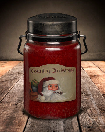 COUNTRY CHRISTMAS Classic Jar Candle-26oz