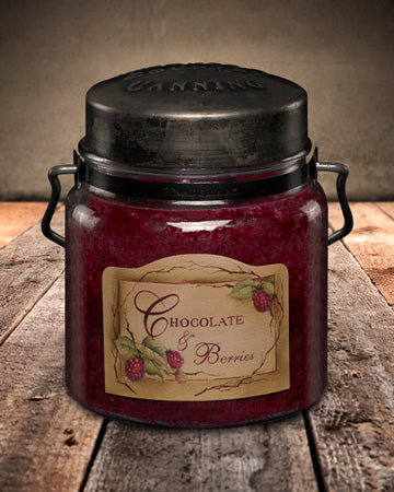 CHOCOLATE and BERRIES Classic Jar Candle-16oz