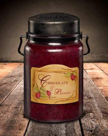 CHOCOLATE and BERRIES Classic Jar Candle-26oz
