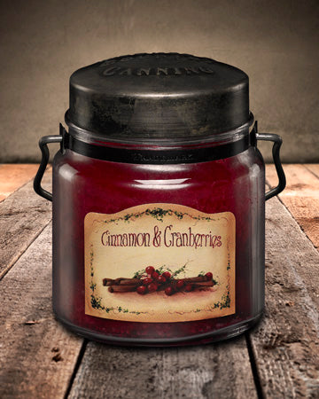 CINNAMON and CRANBERRIES Classic Jar Candle-16oz