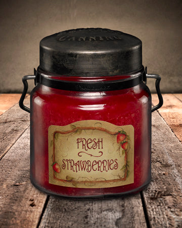 FRESH STRAWBERRIES Classic Jar Candle-16oz