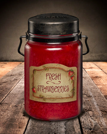 FRESH STRAWBERRIES Classic Jar Candle-26oz