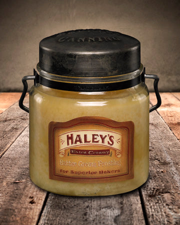 HALEY'S BUTTER FROSTING Classic Jar Candle-16oz
