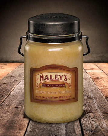 HALEY'S BUTTER FROSTING Classic Jar Candle-26oz