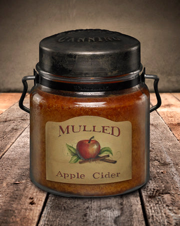 MULLED APPLE CIDER Classic Jar Candle-16oz