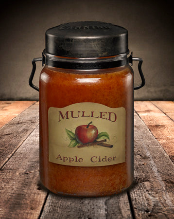 MULLED APPLE CIDER Classic Jar Candle-26oz