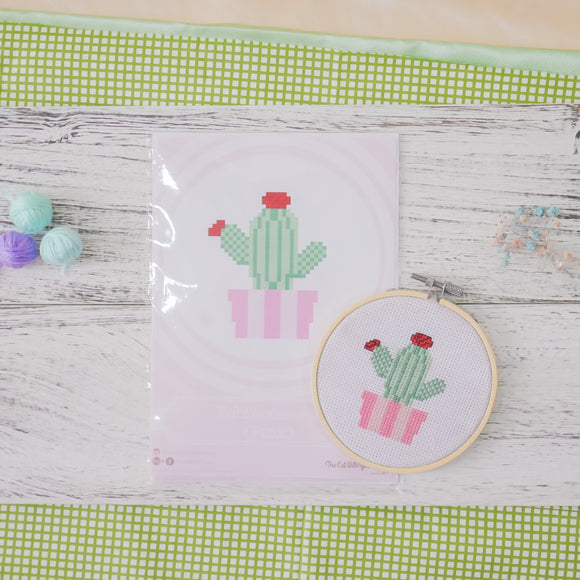 Echinocereus Cactus - Cross Stitch Kit