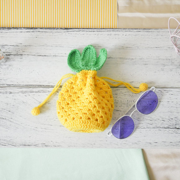 Pineapple Drawstring Pouch
