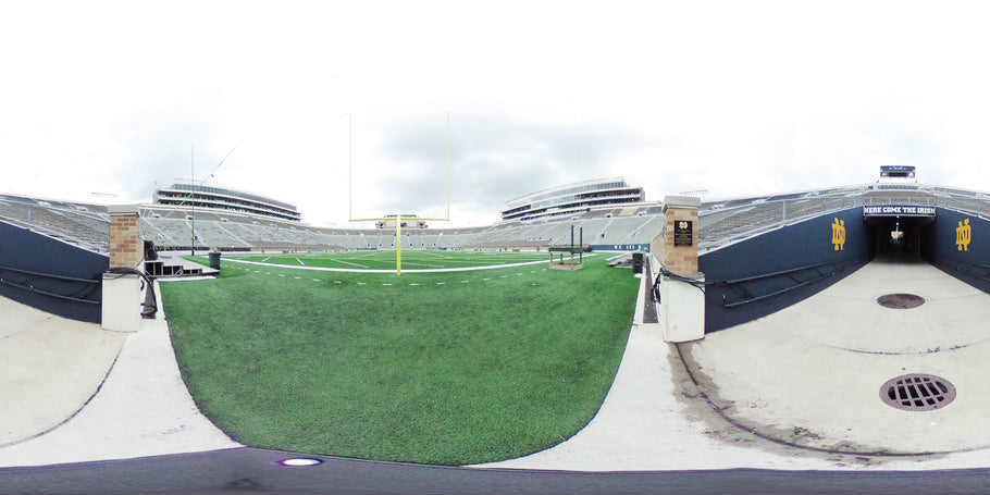 How Streetview 360 tours engage with Notre Dame stadium visitors