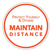 "10 "" Protect Yourself and Maintain Distance White"