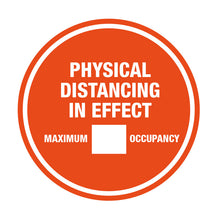 "10"" Physical Distancing Maximum Occupancy Solid"