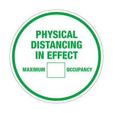 "10"" Physical Distancing Maximum Occupancy White"
