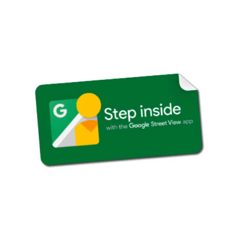 Step Inside Sticker