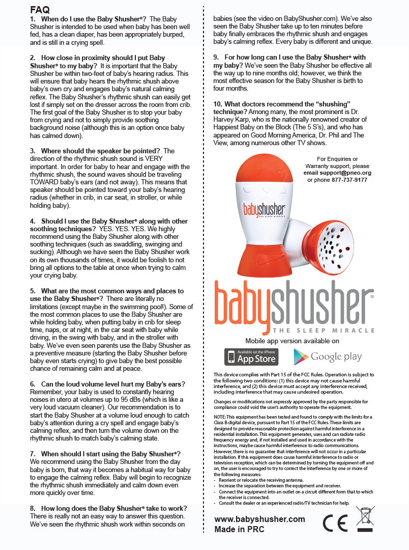 How to use Baby Shusher