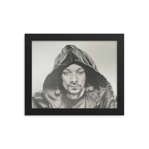 Snoop Dogg in Pencil by Joey Vitale Framed Poster