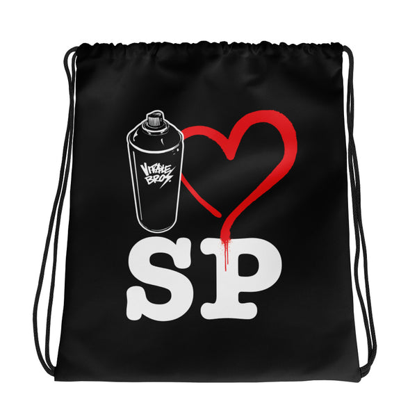 I Love St. Pete Drawstring Bag
