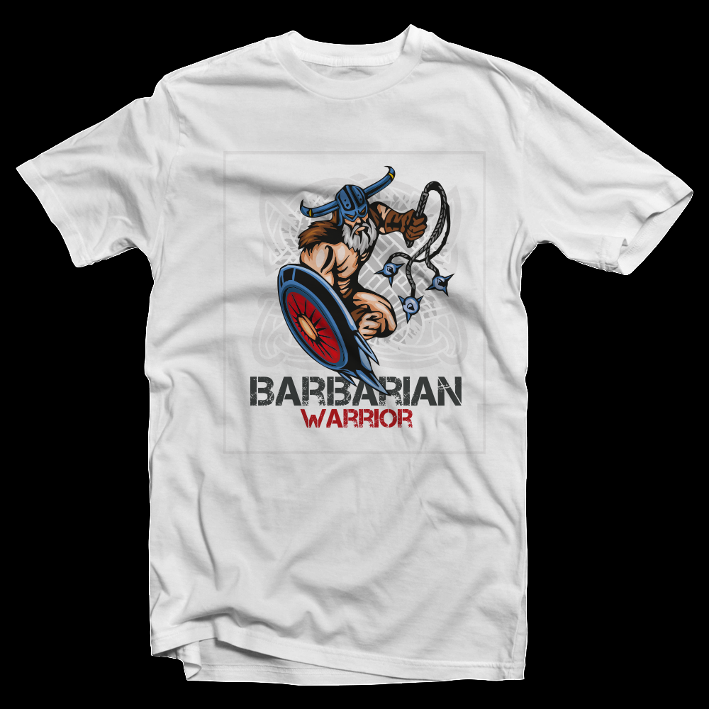 T-Shirt Barbarian Warrior Shield