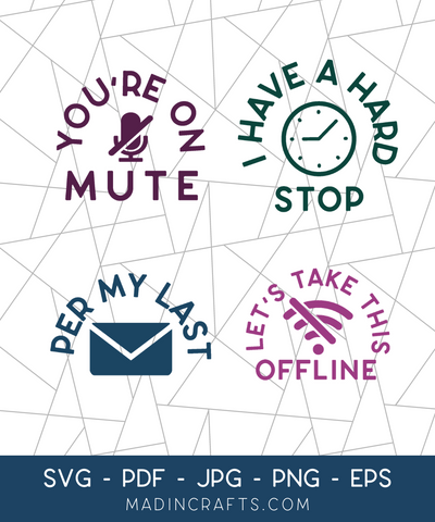 4 Zoom Sayings SVG Bundle