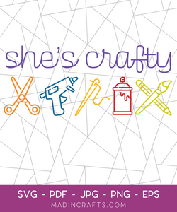 She's Crafty SVG File