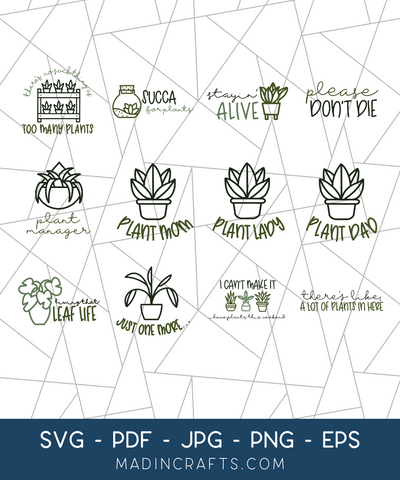 12 Plant Lover SVGs Bundle