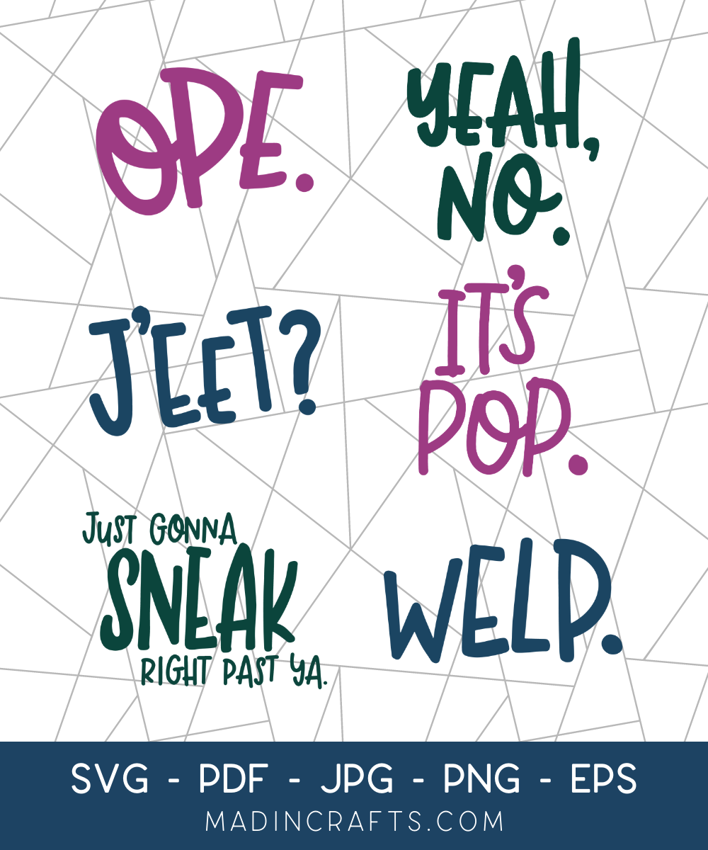 6 Midwest Sayings SVG Bundle