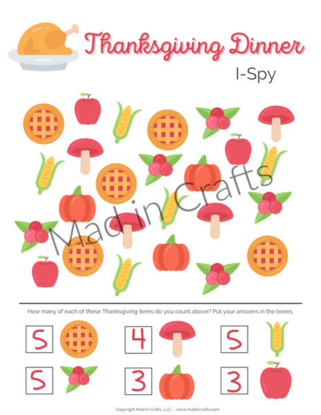 Thanksgiving Activity Printable Bundle