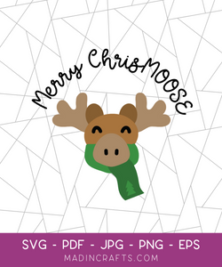 Merry ChrisMOOSE SVG File