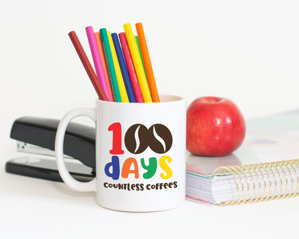 100 Days Countless Coffees SVG File