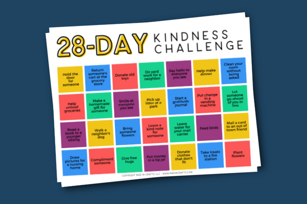 6 Challenge Calendars for Kids Printable Bundle