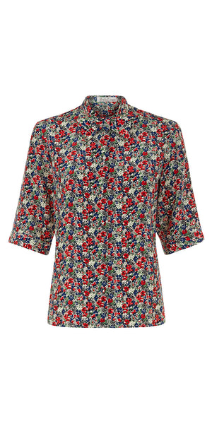 Dietrich Bow-Tie Liberty Print Blouse