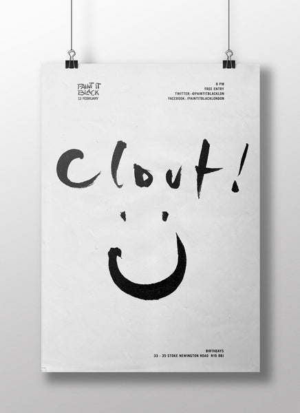 CLOUT Poster A3
