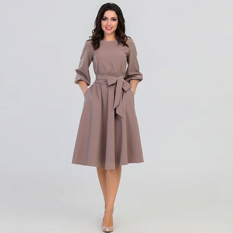 Puff Sleeve Vintage Dress - Valenchia