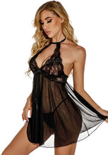 Load image into Gallery viewer, Sheer Fantasy Babydoll Set
