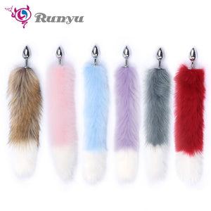 Two Tone Fox Tail Anal Plug