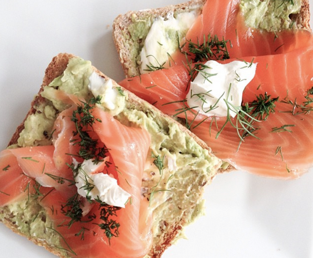 Smoked Salmon and Dill on Rice Crackers