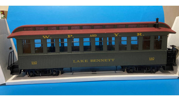G scale train White Pass & Yukon Lake Bennet Observation #240