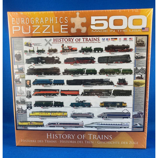urographics History of Trains 500 piece puzzle