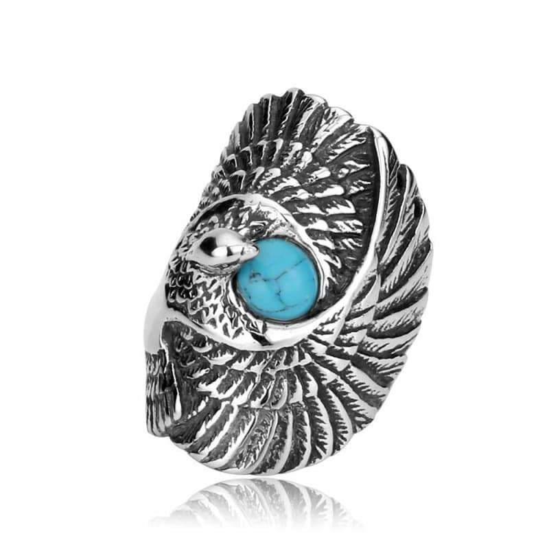 Ring steampunk road eagle