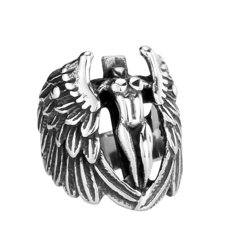 Ring steampunk guardian angel