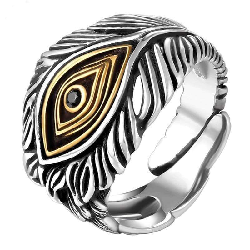 Ring steampunk omniscient eye