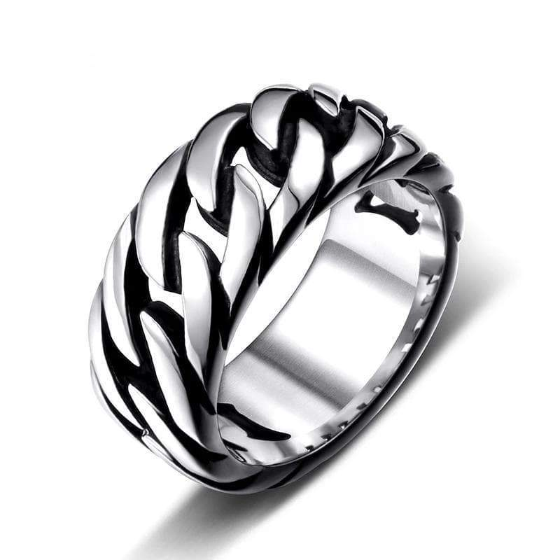 Gothic steel ring for man Gothic