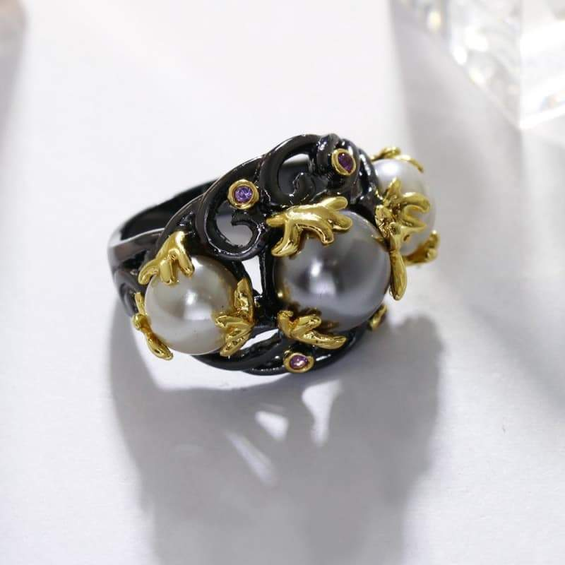 steampunk gothic ring mode