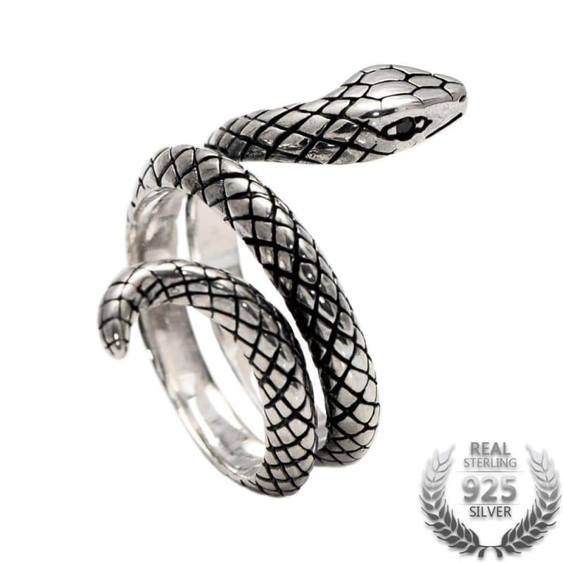 Ring steampunk silver snake