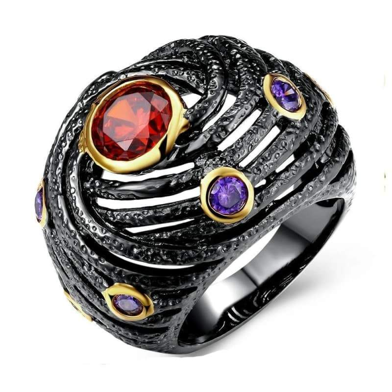 Steampunk black banshee ring